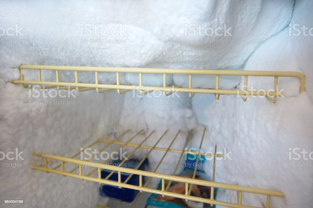 Refrigerator with ice frozen in fridge - Royalty-free Appliance Stock Photo