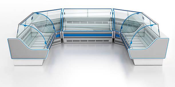 refrigirator showcase - kühlraum stock-fotos und bilder