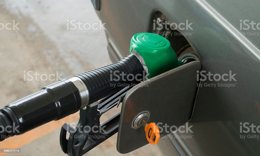 Refuel in the car. foto royalty-free