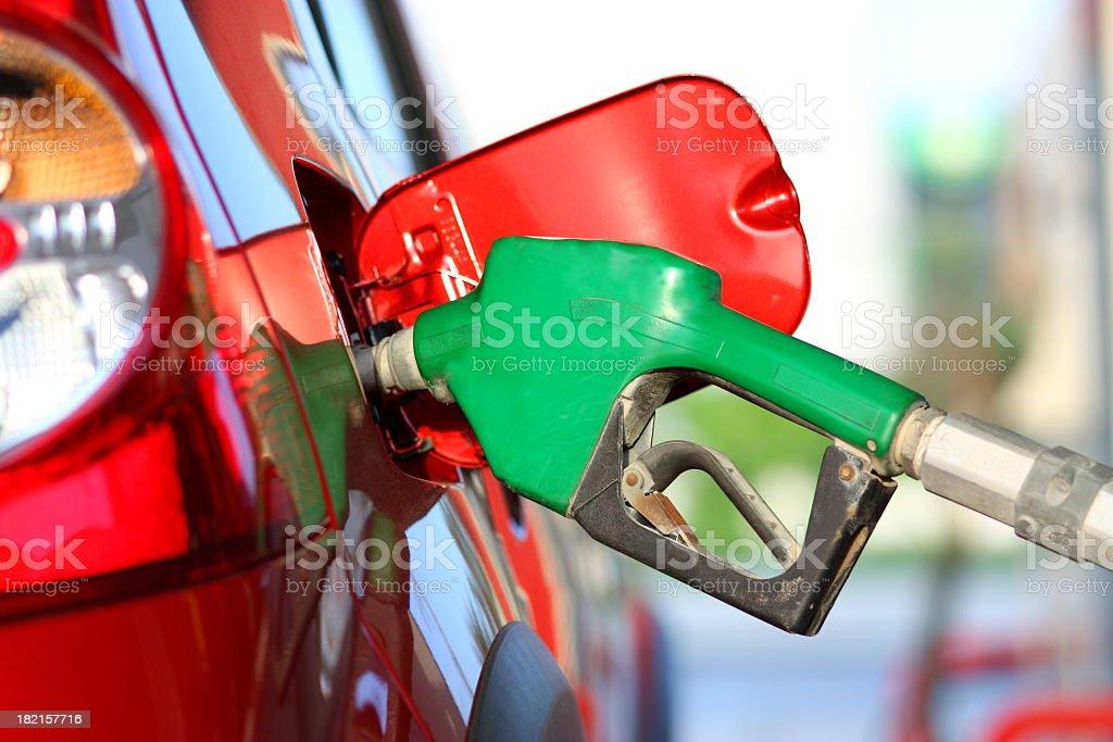 Refuel the car stock photo