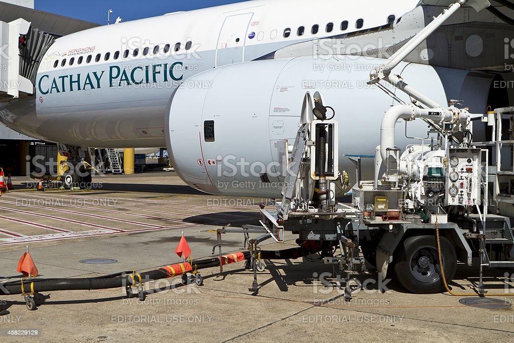 Refueling Aircraft royalty-free stock photo