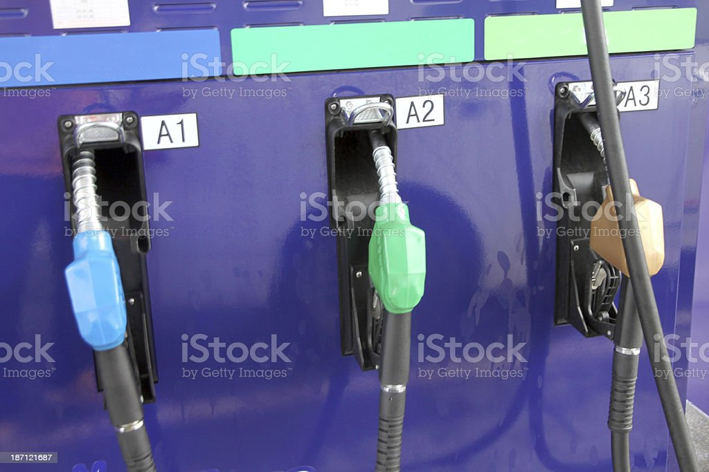 Refueling equipment in gas station. royalty-free stock photo