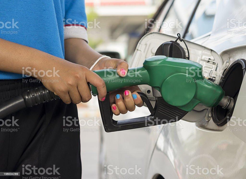 Refueling Gasoline royalty-free stock photo