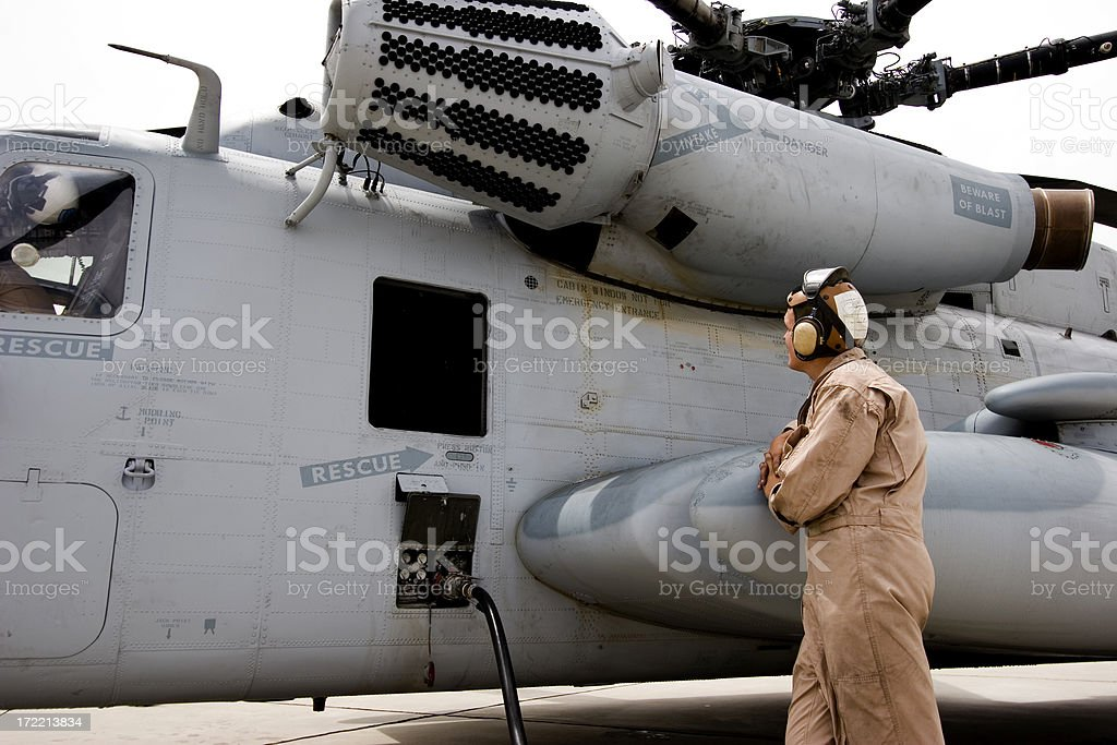 CH53 Refueling royalty-free stock photo