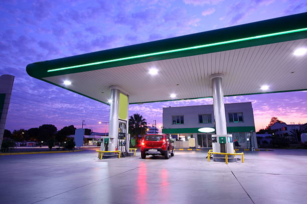 refueling station - station stock pictures, royalty-free photos & images