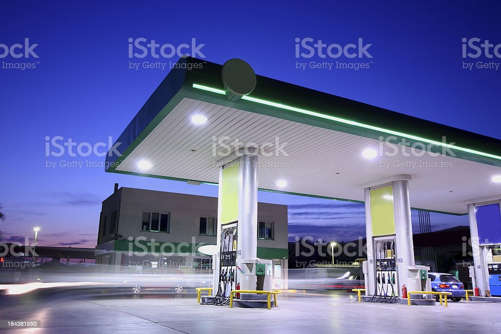 Refueling station royalty-free stock photo