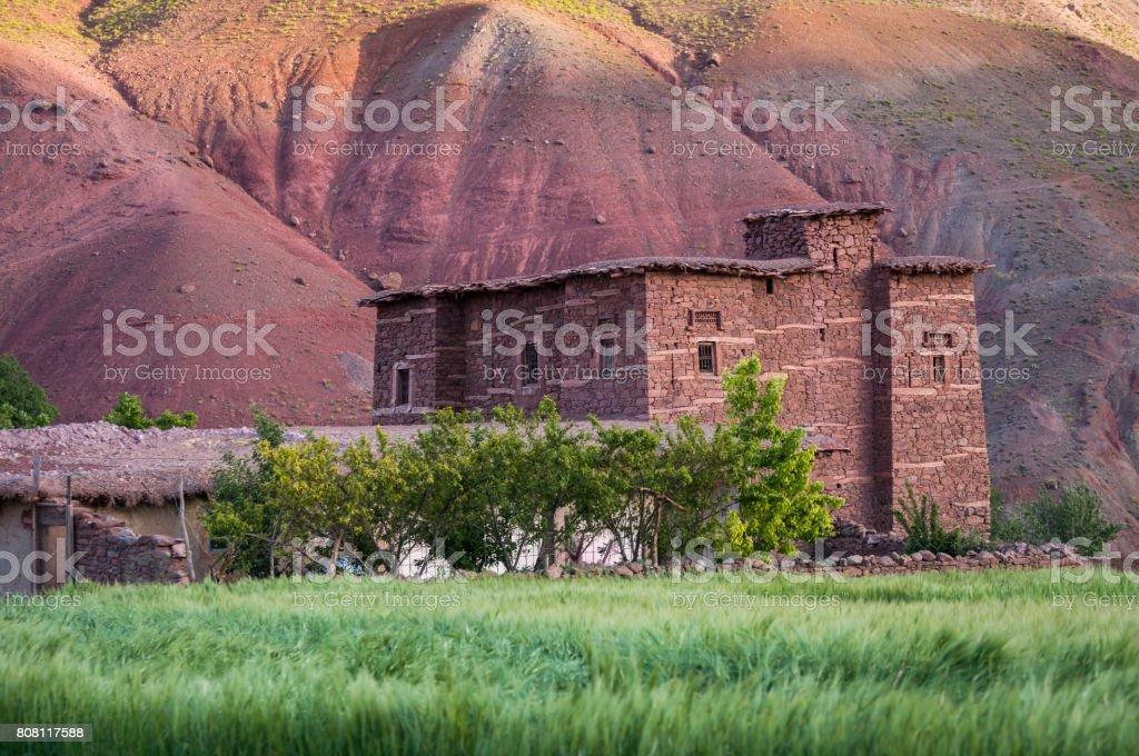 Refuge Atlas Mountains Morocco Sunset stock photo