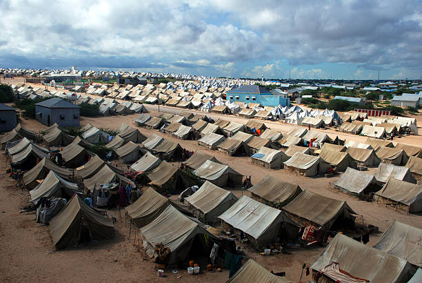 refugee camp i̇n somalia - somalia stock photos and pictures