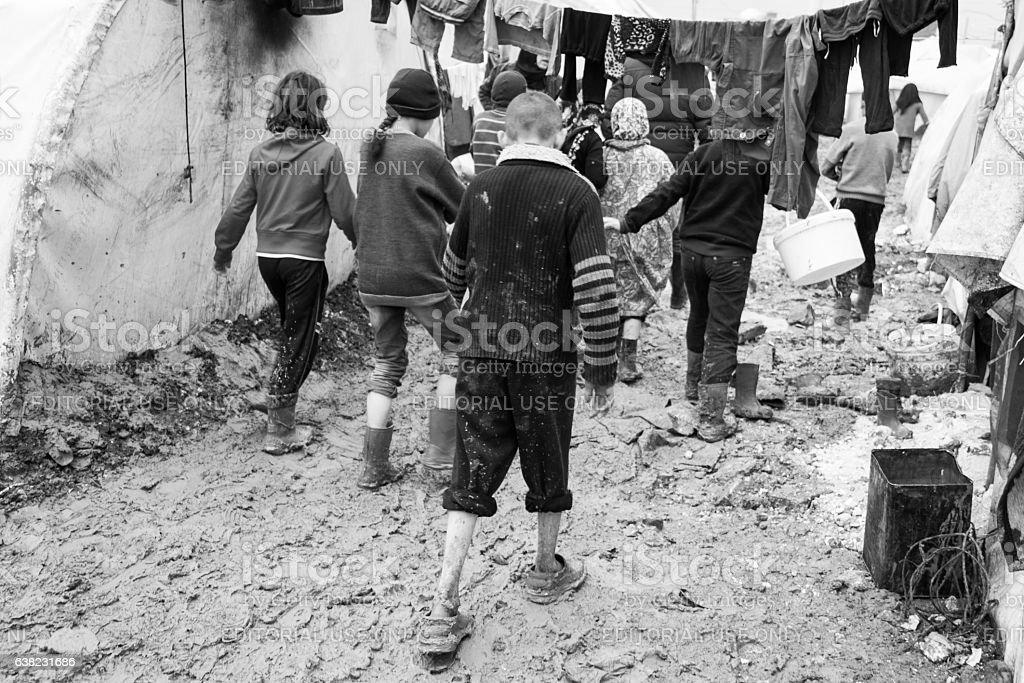 camp de réfugiés - Photo