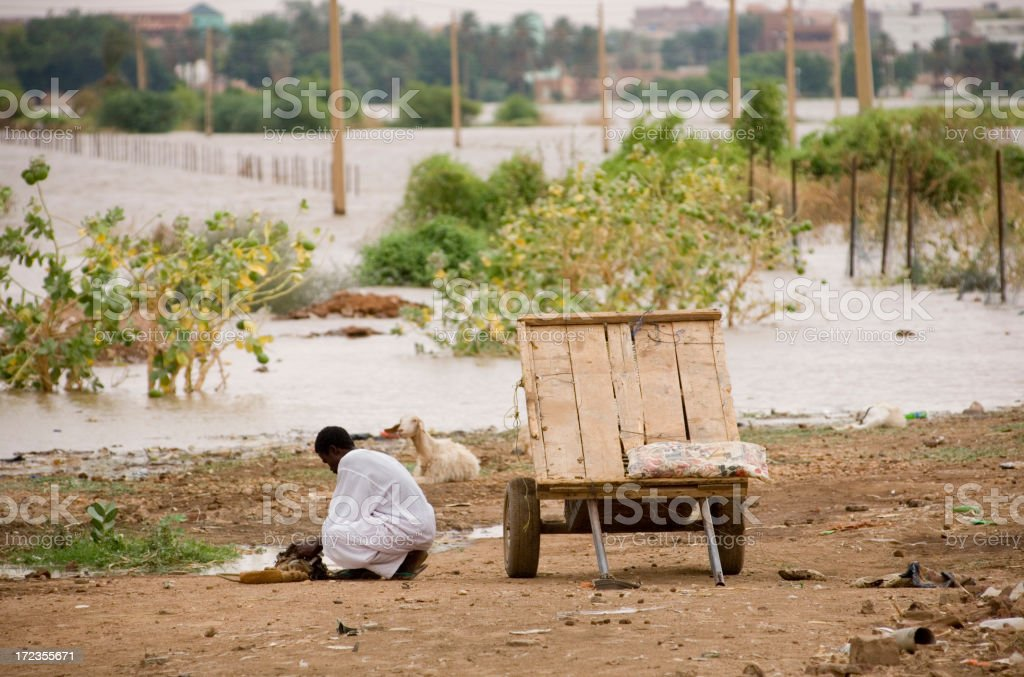 Refugees in Sudan royalty-free stock photo