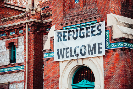 Refugees Welcome Stock Photo - Download Image Now