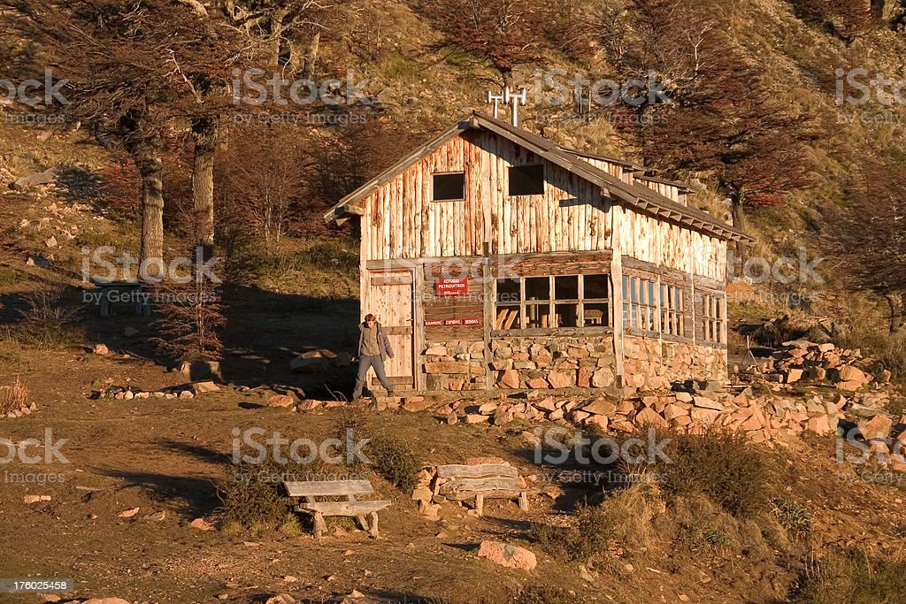 Refugio in Patagonia royalty-free stock photo