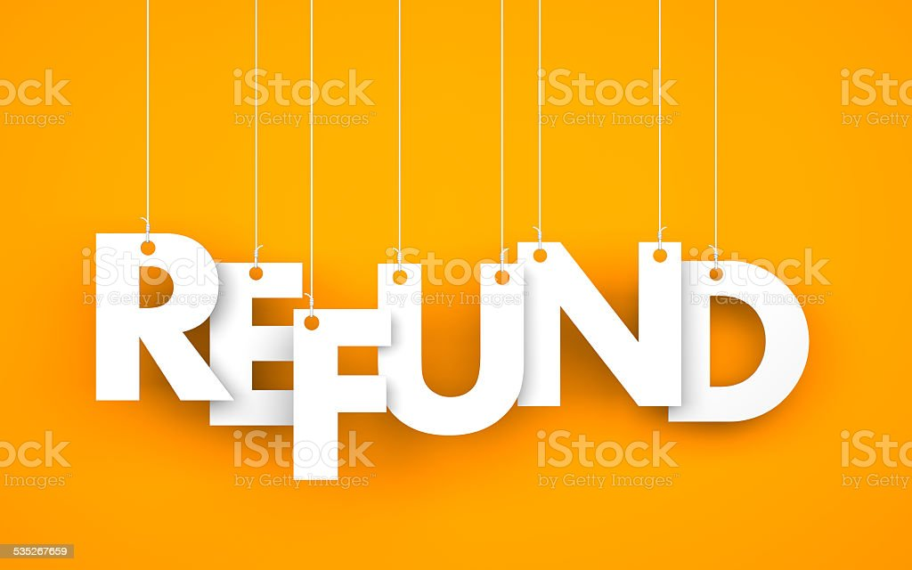 Refund stock photo