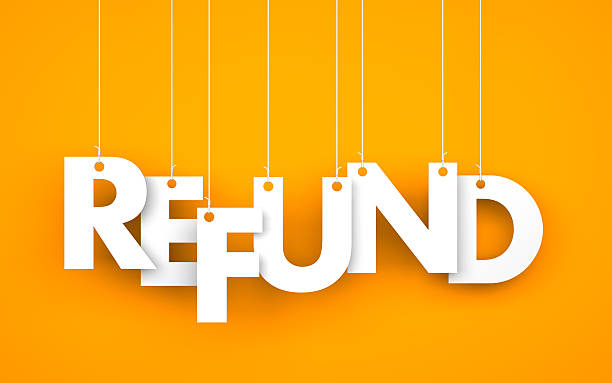 Refund Refund. Text on the ropes refund stock pictures, royalty-free photos & images