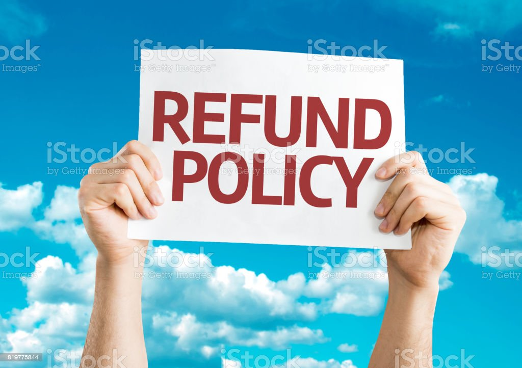 Refund Policy stock photo