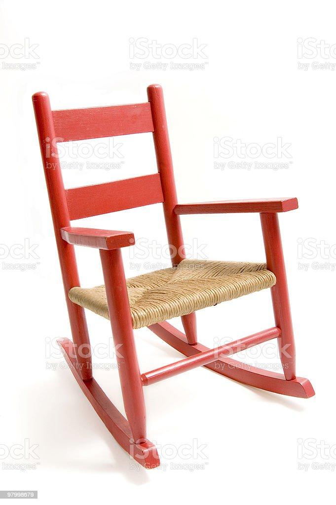 Refurbished Rocking Chair royalty-free stock photo