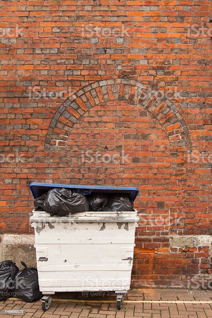 Refuse Disposal Bin stock photo