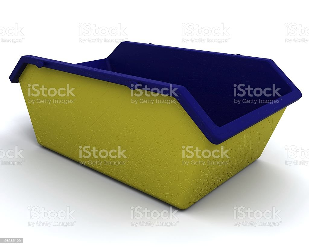 Refuse skip for consctruction industry royalty-free stock photo