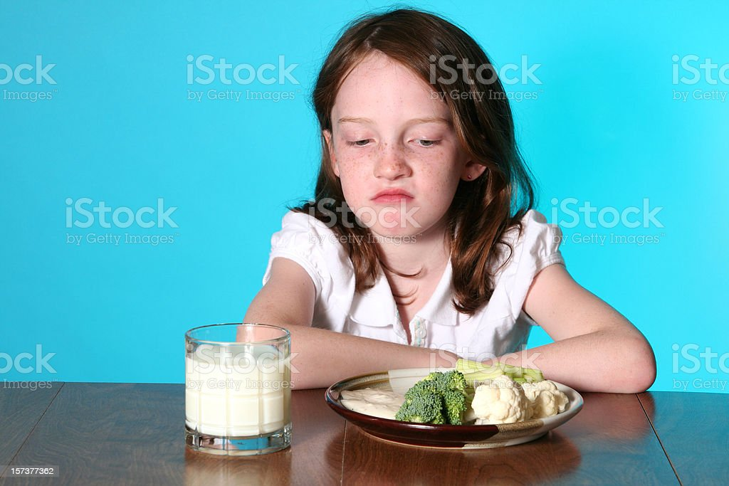 Refusing Vegetables royalty-free stock photo