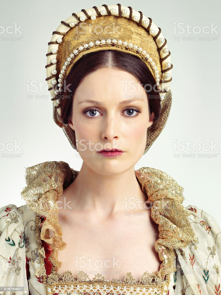 Regal beauty stock photo