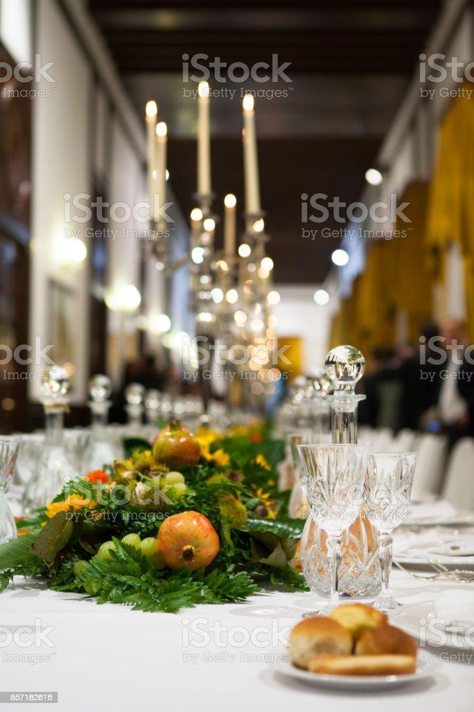 Regal Dinner stock photo