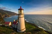 Oregon - US State, Oregon Coast, Lighthouse, Heceta Head, Pacific Northwest
