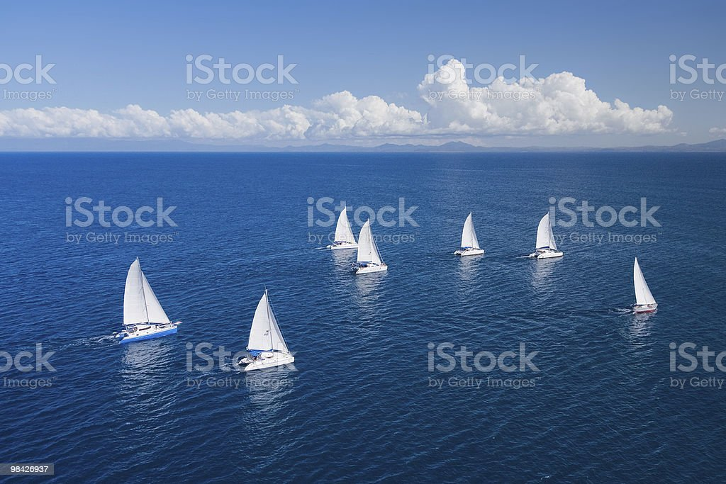 Regatta in indian ocean royalty-free stock photo