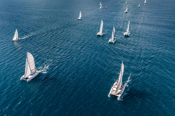 regatta i indiska oceanen - katamaran bildbanksfoton och bilder
