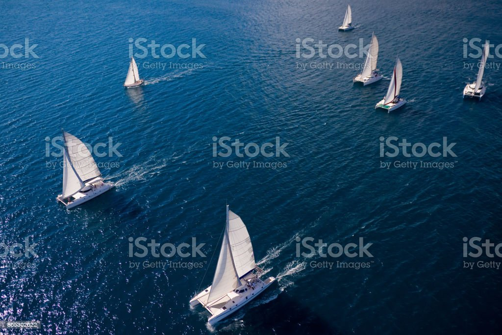 Regatta in the Indian Ocean stock photo