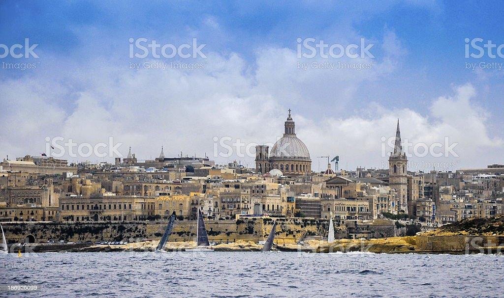 regatta in Valletta royalty-free stock photo