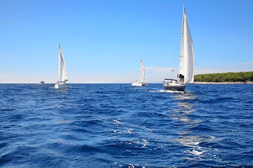 Regatta, Mediterranean sea, Croatia.