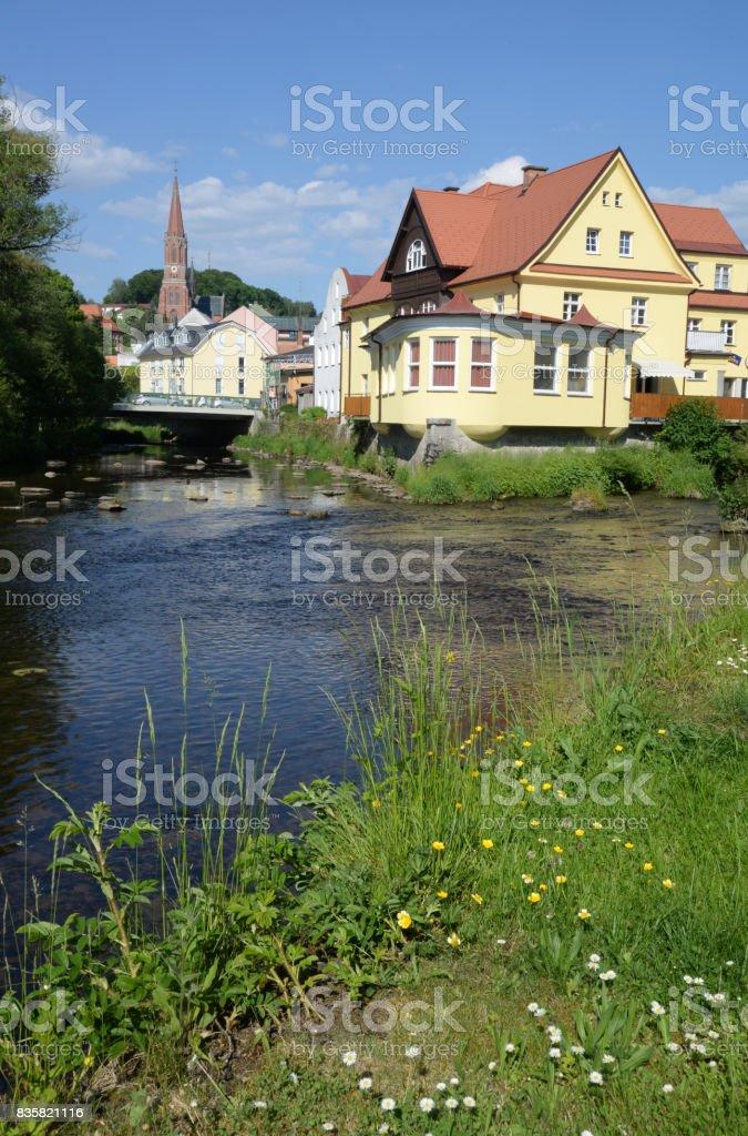 Regen at Zwiesel, Germany stock photo