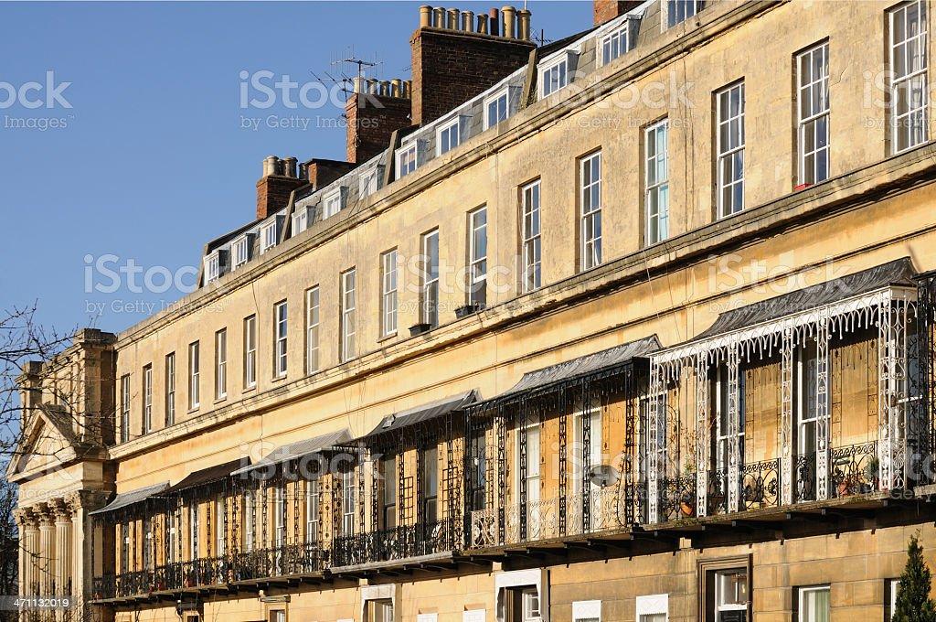 Regency Balconies, Cheltenham royalty-free stock photo