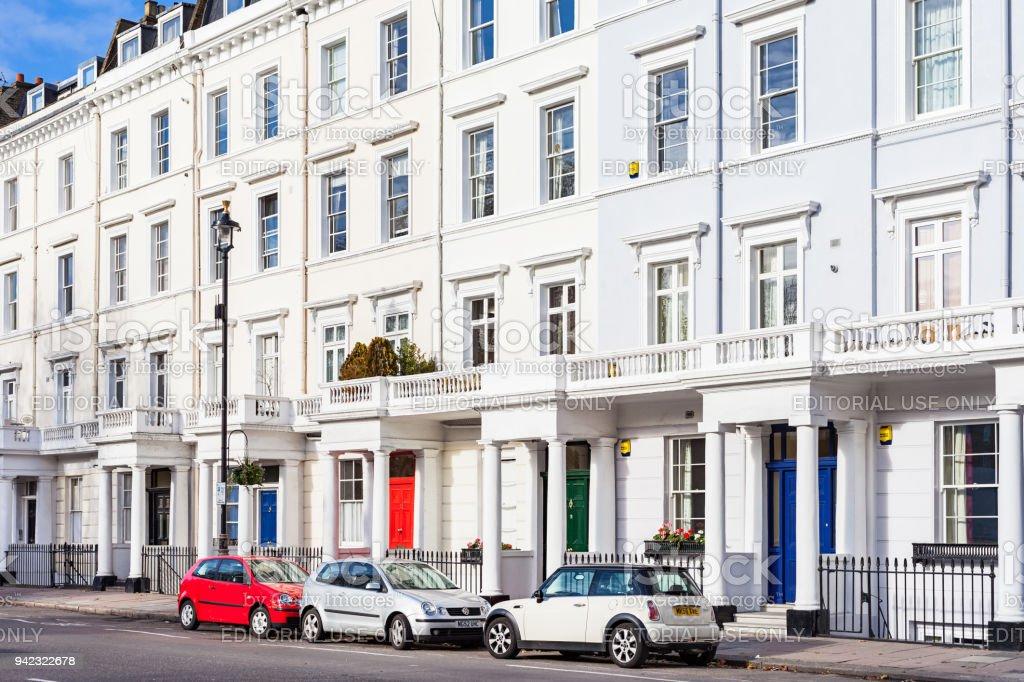 Regency style townhouses in Pimlico London England UK stock photo
