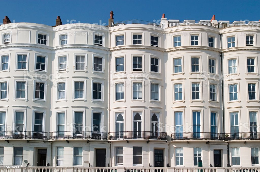 Regency terraced building. royalty-free stock photo