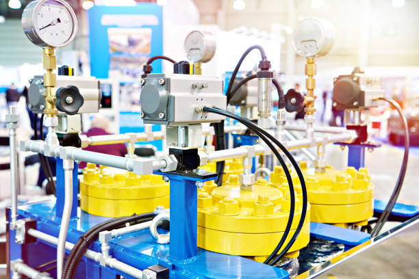 Regeneration gas drying system stock photo