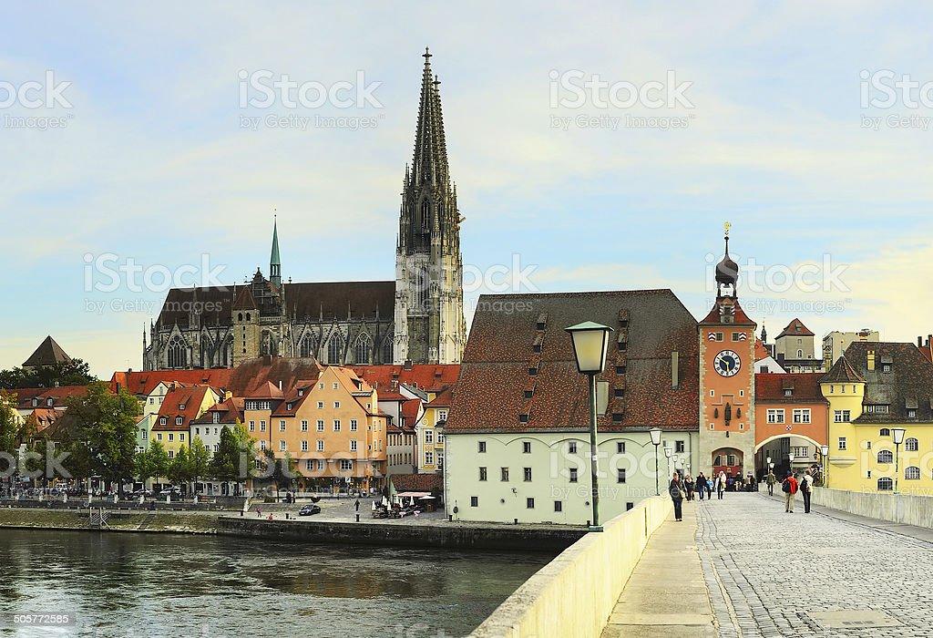 Regensburg architecture stock photo
