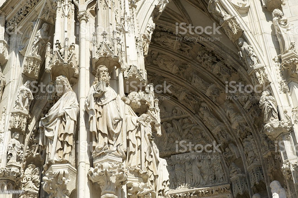 Regensburg Cathedral detail stock photo