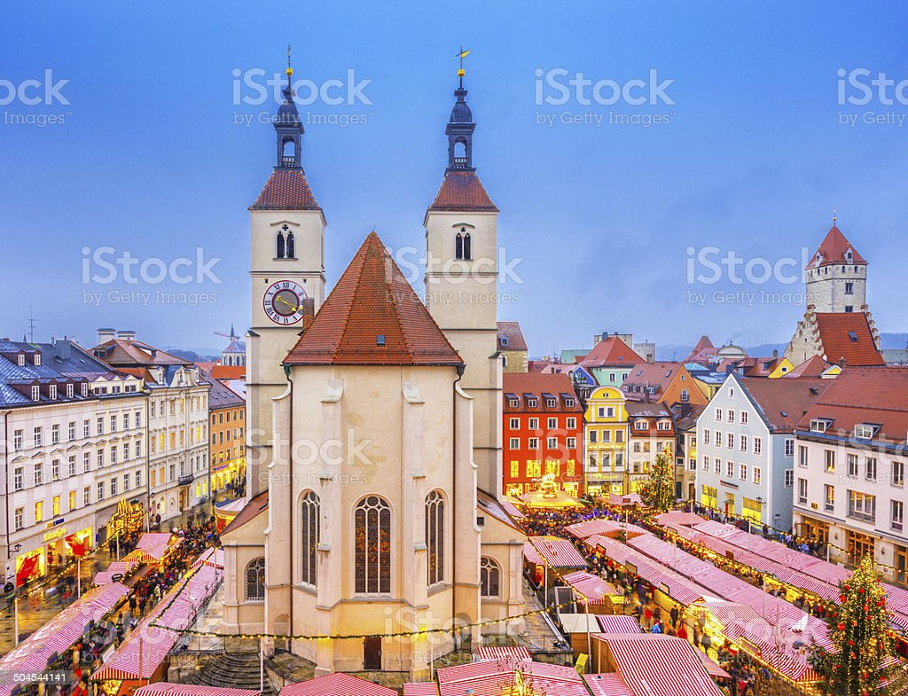 Regensburg Christmas Market stock photo