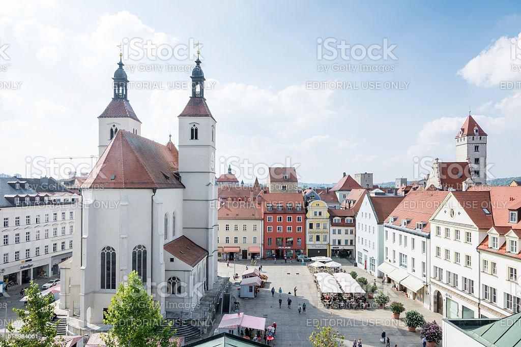 Regensburg City stock photo