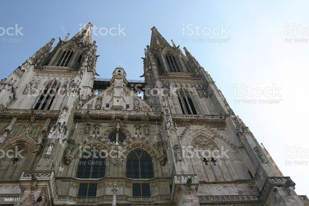 Cattedrale di Regensburg foto stock royalty-free