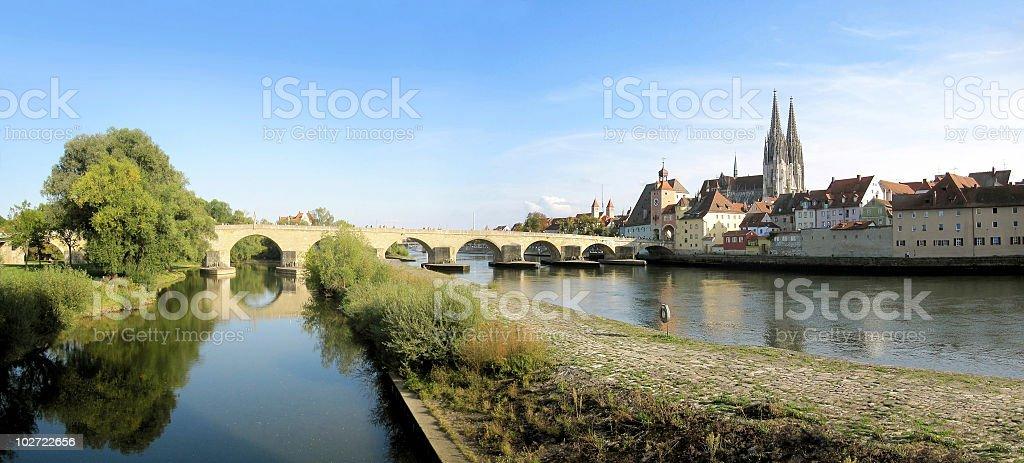 Regensburg und Donau stock photo