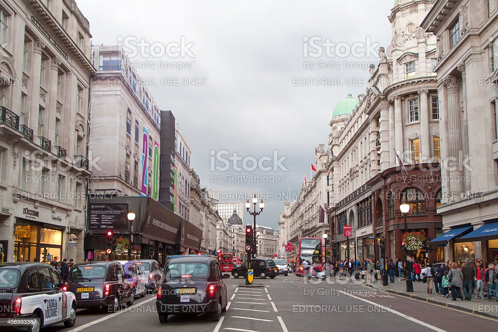 Regent Street in London royalty-free stock photo