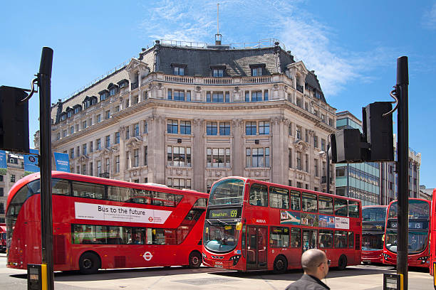 Regent street, London stock photo
