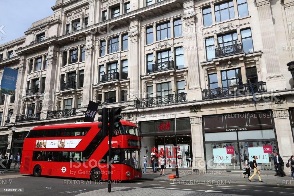 Regent Street, London stock photo