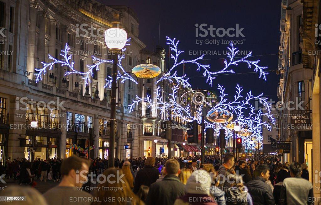 regent street on black friday weekend london christmas lights decoration royalty free stock - Black Friday Christmas Lights