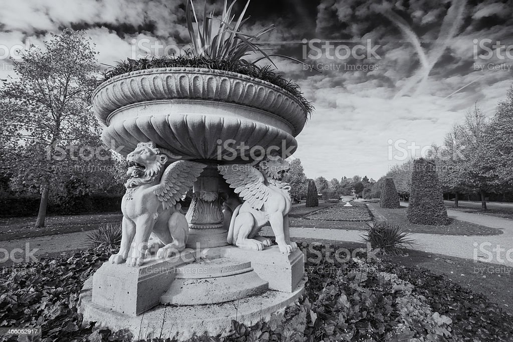 Regent's Park Fountain in Westminster London stock photo