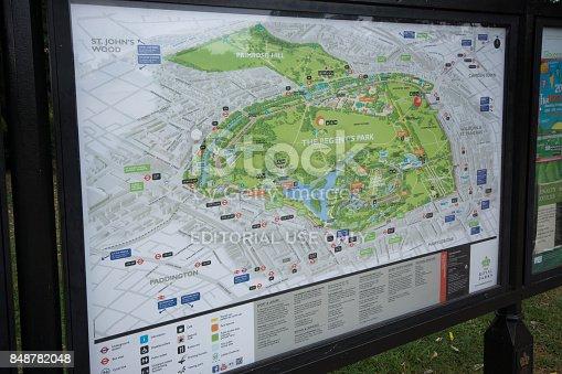 istock Regent's Park map 848782048