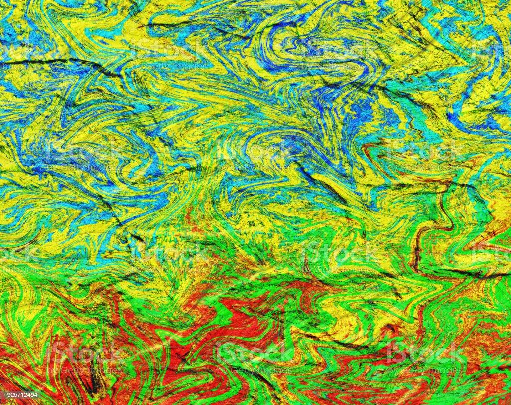 Reggae Background digital paint art template  for design stock photo