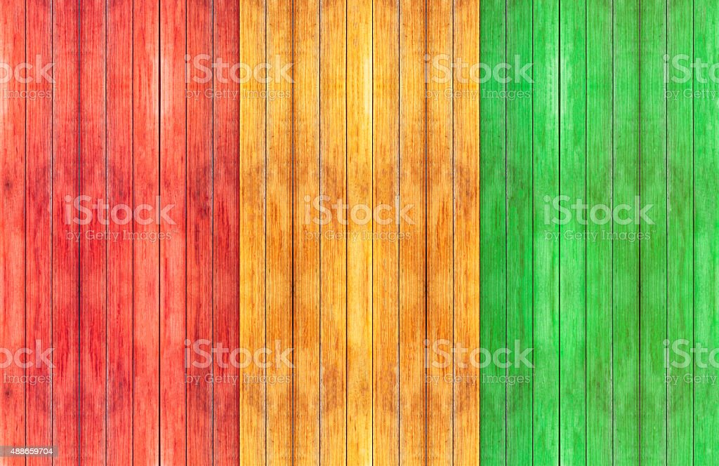reggae color and wooden floor Background​​​ foto